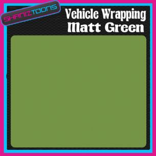 1M X 1520mm VEHICLE CAR VAN WRAP MATT GREEN FINISH